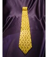 Lauren by Ralph Lauren Silk Tie Hand Finished Giraffe Animals Pattern Ye... - $35.64