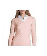 $69 Tommy Hilfiger Women's V Neck Cotton shirt-Sweater, Pink, Large - $34.64