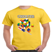 Cheater Rubiks Cube Funny T Shirt Youth and Men's Sizes All Colors #221 - $13.45+