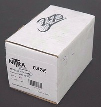 "BOX OF 8 NEW NITRA SPL-38N PLASTIC SILENCERS 3/8"" NPT SPL38N image 1"