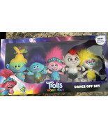 New! Trolls World Tour Dance Off Plush Set, 5 Pieces, Ages 3 + Collector... - $59.39