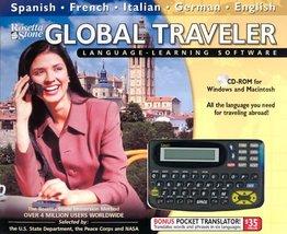 Rosetta Stone Global Traveler (Spanish French German Italian English & Pocket Tr - $43.39