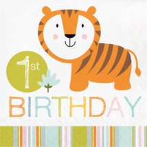 Happi Jungle 1st Birthday Luncheon Napkin/Case of 192 - £44.95 GBP