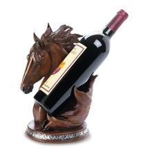 Tabletop Wine Bottle Holder, Unique Animal Wine Holder Horse Wine Bottle... - $39.08