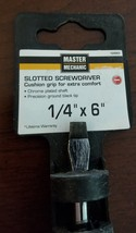MM 1/4x6 Screwdriver,No 164969 - Cushioned grip Master Mechanic - $5.94