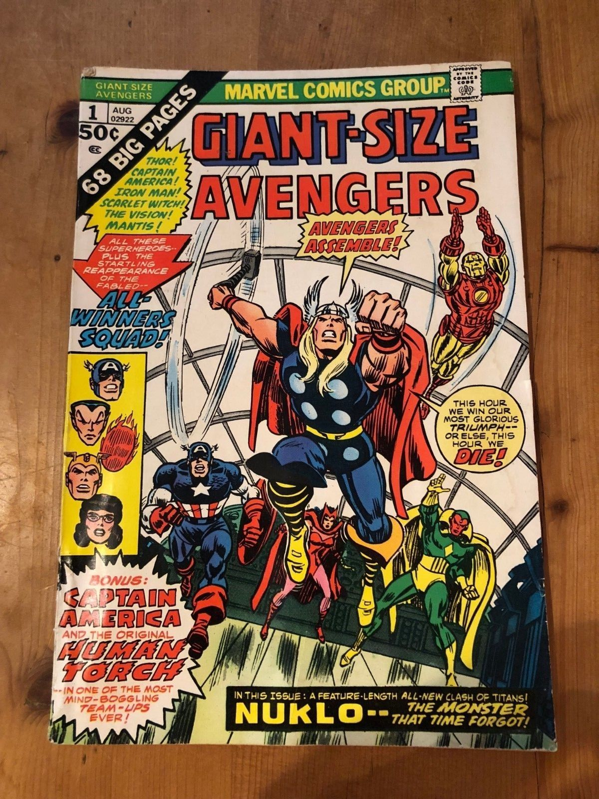 MARVEL COMICS - THE AVENGERS GIANT SIZE ANNUAL #1 (1974) VFN - 2ND APP INVADERS