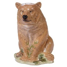 Mountain Retreat Brown Bear Ceramic Figural Cookie Jar NIB 41847 Certifi... - $62.32