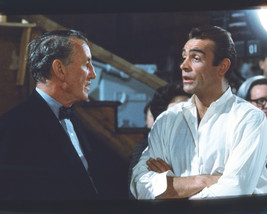 Sean Connery and Ian Fleming rare on set of Dr. No James Bond 16x20 Canvas - $69.99