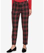 $89.5 Tommy Hilfiger Plaid Straight-Leg Pants Black/Red 16 - $58.18