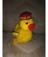 "Nardy CMU Central Michigan University Duck Ducky Plush 6.5"" Yellow Burgu... - $15.83"