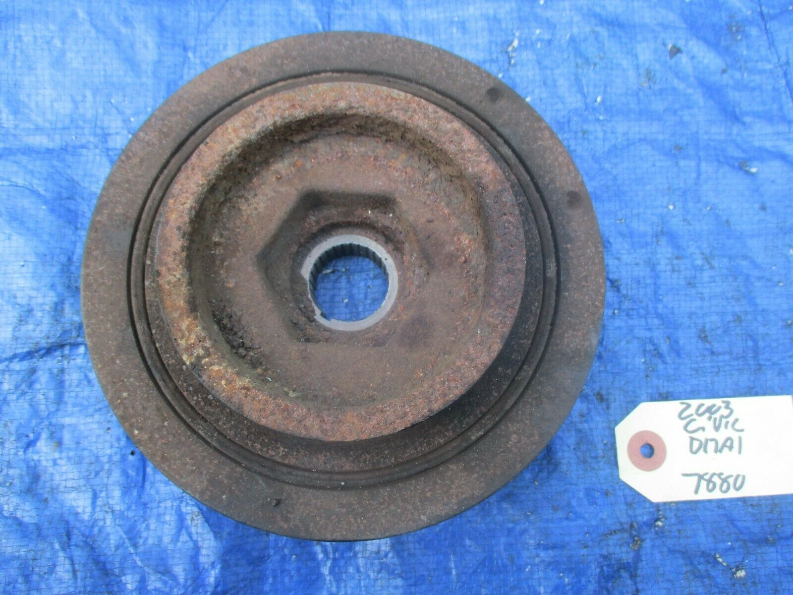01-05 Honda Civic D17A1 harmonic balancer crank pulley engine motor OEM 1.7 D17