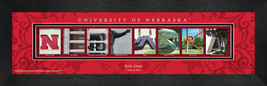 Personalized University of Nebraska Campus Letter Art Framed Print - $39.95