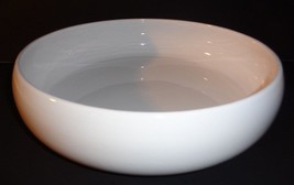 Everyday White Serving Bowl Earthenware Bowl  11 x 3 inches - £13.42 GBP