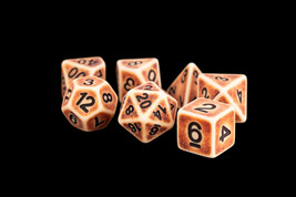 16mm Resin Polyhedral Dice Set: Ancient Brown - $9.50