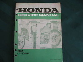1992 Honda CR125R CR125 125R Cr 125 Shop Service Manual - $15.61