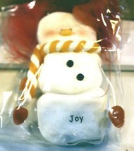 CHRISTMAS ORNAMENTS WHOLESALE- SNOWMAN- 13365- 'JOY'-  (6) - NEW -W74 - $5.83