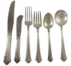 Damask Rose by Oneida Sterling Silver Flatware Set For 8 Service 49 Pieces - $1,850.00