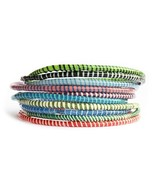 10 Recycled Flip Flop Bracelets Assorted Colors Hand Made in Mali, West ... - $8.98