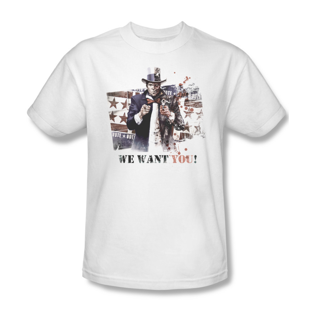 dc comics two face we want you detective comics the dark knight for sale online graphic t shirt