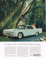 Vintage 1961 Magazine Ad Lincoln Pure Elegance With A Pledge Of Excelence - $5.93