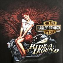 Harley Davidson T Shirt Ride a Legend BC Grog Caveman Size 2XL Black Mot... - $39.55