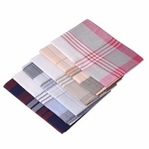 6PCS Men Handkerchief Square Stripe Cotton Multicolor Clothing Accessory... - $10.84