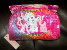 Hasbro My Little Pony Sequin Pink Utility Case ~ School Supplies Htf Last One - $17.43