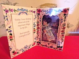 1994 Marie Osmond Porcelain Greeting Card Doll-Thinking of You in box - $14.85