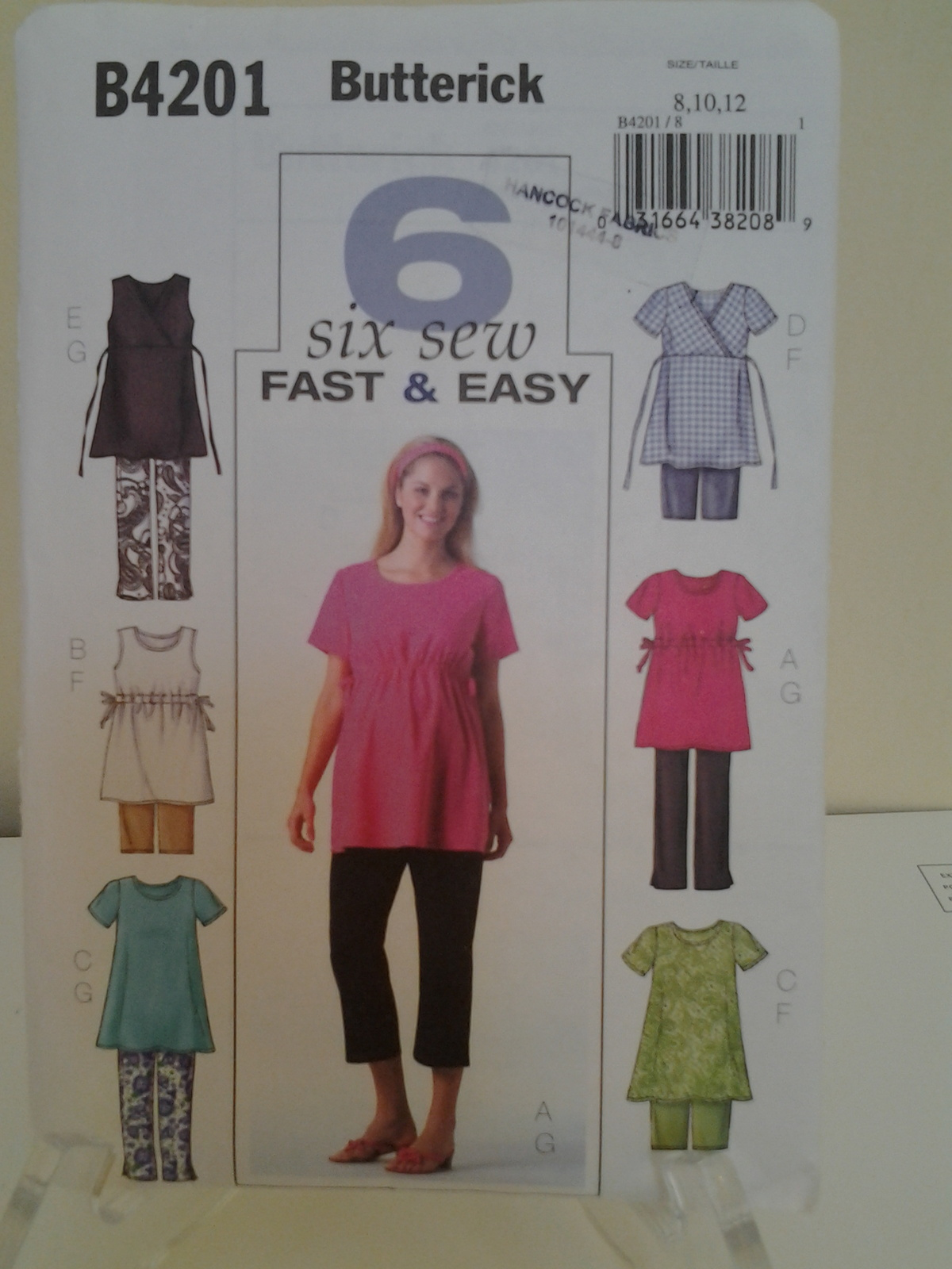 3bfdbabff832a Butterick #B4201 Six Sew Fast & Easy, and 50 similar items