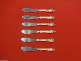 """Monticello by Lunt Sterling Silver Trout Knife Set 6pc. HHWS  Custom Made 7 1/2"""" - $520.70"""