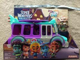Netflix Playschool Super Monsters GrrBus Monster Bus Toy Lights Sounds & Music  image 7