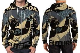 Black panther wakanda hoodie zipper fullprint men thumb200