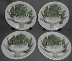 Set (4) Gustavsberg ARTICHOKE PATTERN Luncheon Plates MADE IN SWDEN - $148.49