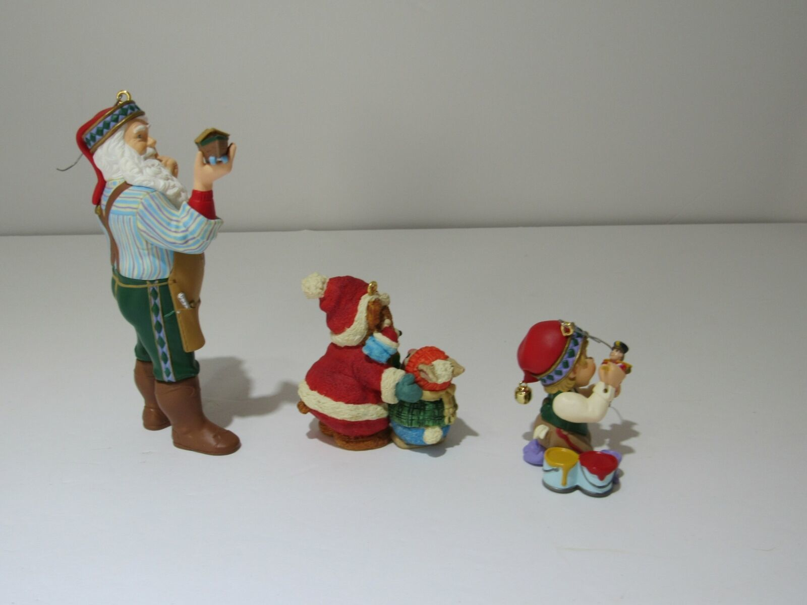 Lot of 3 1999 Hallmark Ornaments Arctic Artist, Mary's Bears, Toymakers Gift NIB image 5