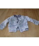 Size 18 Months Striped Windbreaker Zip Up Jacket White Nylon Overlay Nav... - $14.00