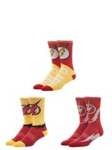 The Flash DC Comics 3 Pack Athletic Active Crew Socks Nwt - $19.95