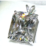 Breathtaking 16 ct Moissanite /Sterling Silver Pendant from KT Elegant Jewelry - $219.95