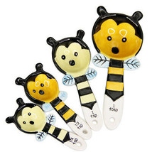 Pacific Giftware Loveable Cute Honey Bee Ceramic Measuring Spoons Set of... - $10.88