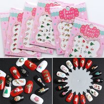 Mixed Styles 3D Nail Art Stickers Decals (10, 30 or 50 sheets) image 3