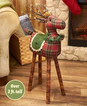 Lighted Plaid Reindeer | Christmas Decor | Lodge | Country | Pottery Bar... - €39,81 EUR