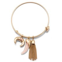Inspired Silver Pink Horn Tribal Petite Charms Gold Tone Finish Stylish ... - $395,20 MXN