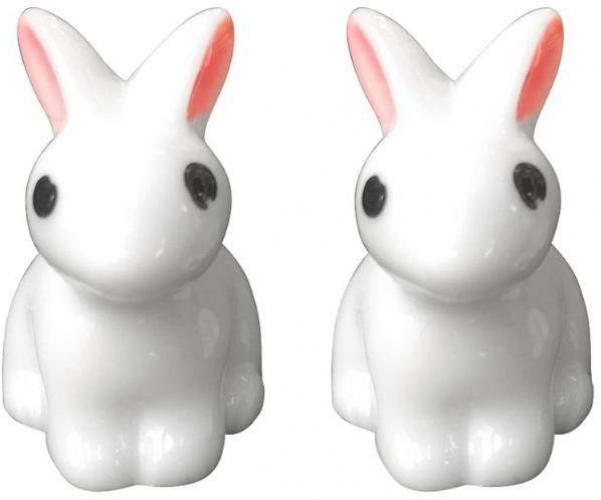 Mini Rabbit Garden Ornament Miniature Figurine Plant Pot Fairy Synthetic Resin H