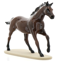 "Hagen-Renaker Miniature Ceramic Horse Figurine Thoroughbred ""Seabiscuit"""