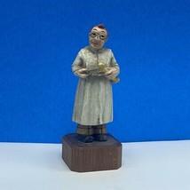 Wood carved folk art black forest bone saw doctor figurine sculpture Ger... - $44.55