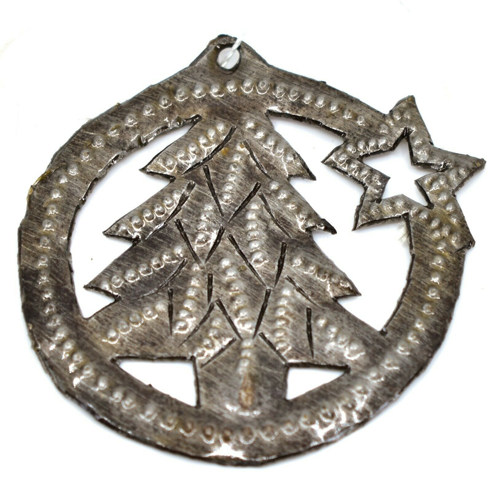 Croix Des Bouquets Christmas Tree with Star Design Holiday Ornament Made Haiti