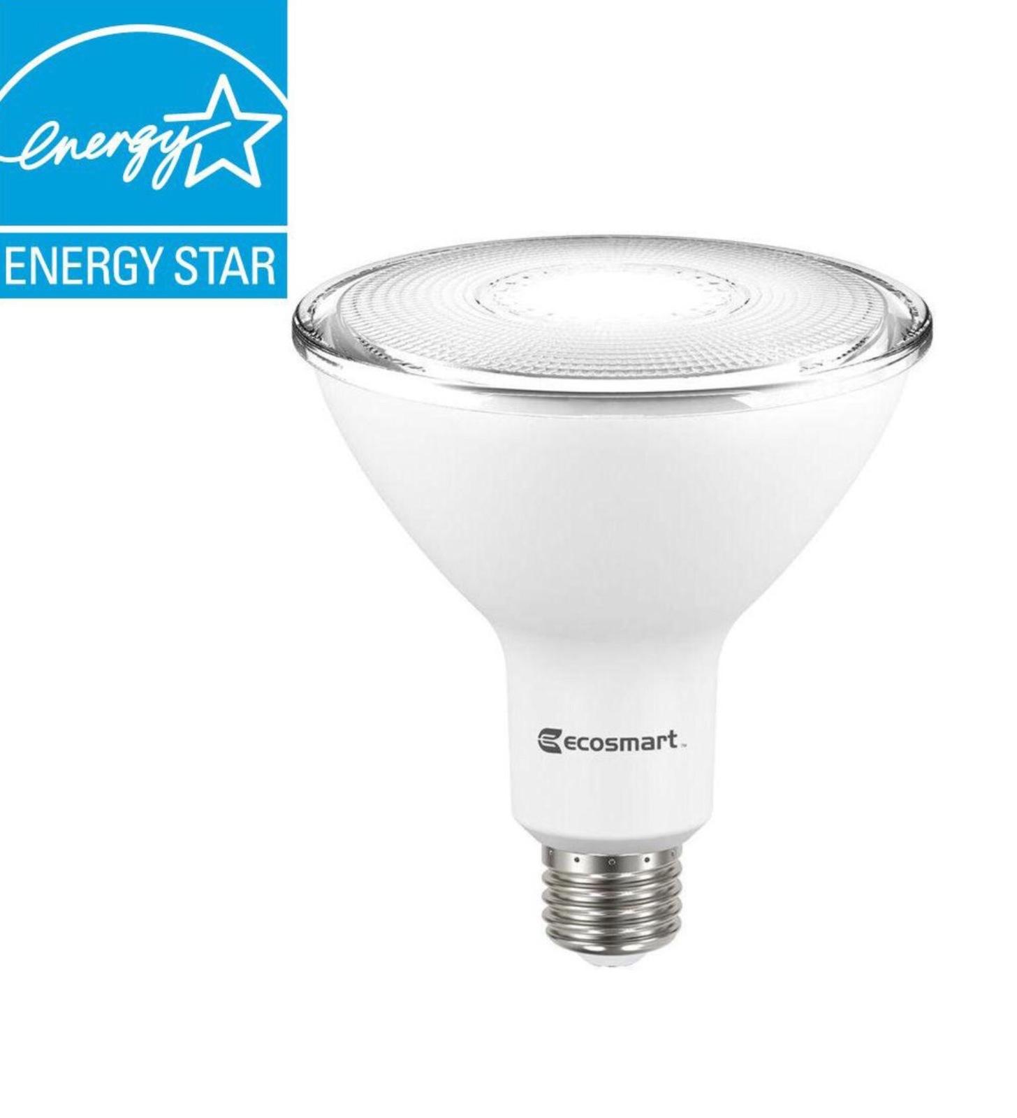 8 Bulbs EcoSmart LED 120W Equivalent Bright White PAR38 Dimmable Flood Light - $95.89