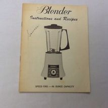 SIGNATURE BLENDER INSTRUCTIONS and RECIPES MANUAL 1940'S - $12.82