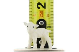 Hagen Renaker Miniature Lamb Baby White Ceramic Figurine image 2