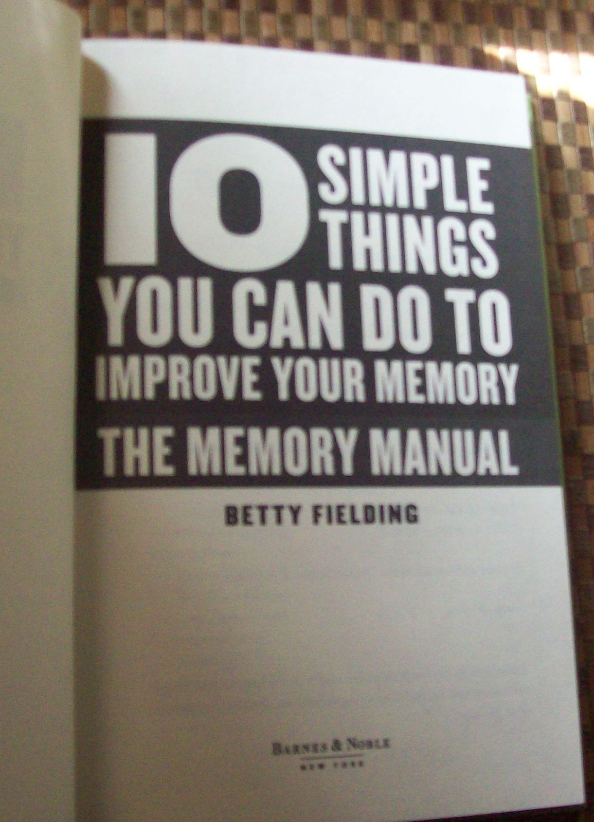 The Memory Manual by Betty Fielding 2007 HBDJ