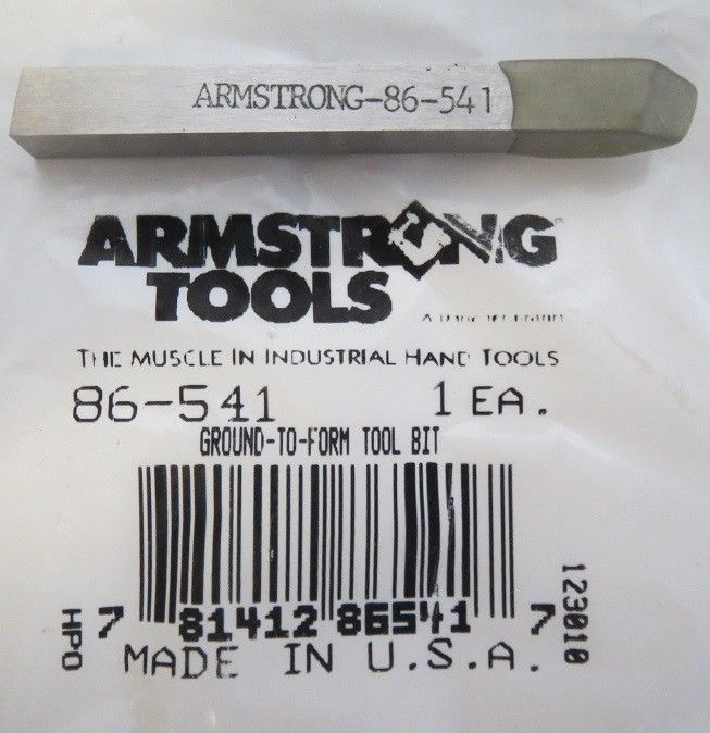 Primary image for Armstrong 86-541 Ground To Form Tool Bit USA